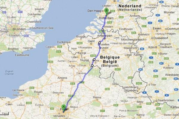 Urban Runners Roparun Route