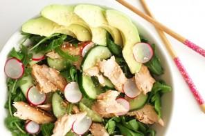 Salmon salad by Yasmin