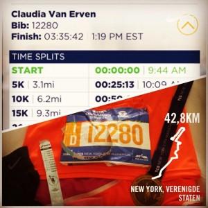 Result C. van Erven NYC marathon 2014