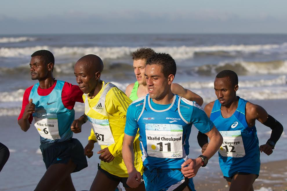 (L-R) Ezrah Sang (KEN), Khalid Choukoud, Ronald Schroer, Abdi Nageeye