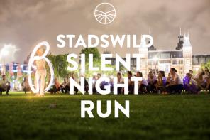 De STADSWILD Silent Night Run is een bijzondere beleving